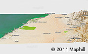 Physical Panoramic Map of Ajman, satellite outside