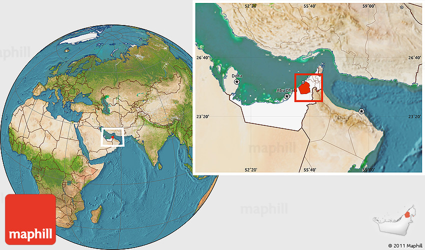 Satellite location map of dubai highlighted country 2d gumiabroncs Images