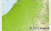 Physical Map of Dubai
