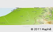 Physical Panoramic Map of Dubai