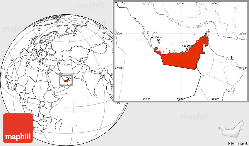 Blank location map of united arab emirates 2d gumiabroncs Image collections