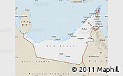 Classic Style Map of United Arab Emirates