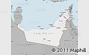 Gray Map of United Arab Emirates