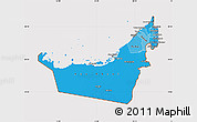 Political Shades Map of United Arab Emirates, cropped outside
