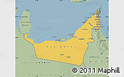 Savanna Style Map of United Arab Emirates