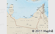 Shaded Relief Map of United Arab Emirates