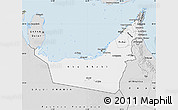 Silver Style Map of United Arab Emirates