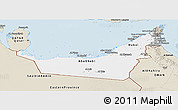 Classic Style Panoramic Map of United Arab Emirates