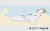 Classic Style Panoramic Map of United Arab Emirates, single color outside