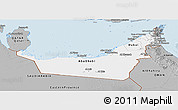Gray Panoramic Map of United Arab Emirates