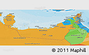 Political Panoramic Map of United Arab Emirates