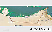 Satellite Panoramic Map of United Arab Emirates