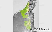 Physical 3D Map of Ras Al Khaymah, desaturated
