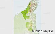 Physical 3D Map of Ras Al Khaymah, lighten