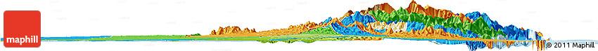 Physical Horizon Map of Ras Al Khaymah, political outside