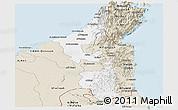 Classic Style Panoramic Map of Ras Al Khaymah