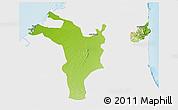 Physical 3D Map of Shariqah, single color outside