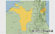 Savanna Style 3D Map of Shariqah