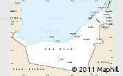 Classic Style Simple Map of United Arab Emirates