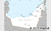 Gray Simple Map of United Arab Emirates