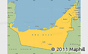 Savanna Style Simple Map of United Arab Emirates