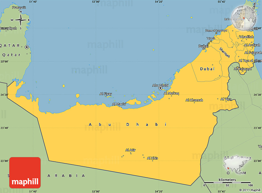 Maps Update 1200924 Map Arab Emirates Political Map of United – Map of United Arab Emirates