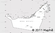 Silver Style Simple Map of United Arab Emirates, cropped outside