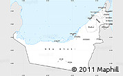 Silver Style Simple Map of United Arab Emirates, single color outside