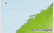 Physical 3D Map of Umm Al Qaywayn