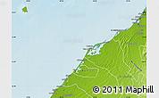 Physical Map of Umm Al Qaywayn