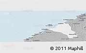 Gray Panoramic Map of Umm Al Qaywayn