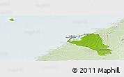 Physical Panoramic Map of Umm Al Qaywayn, lighten