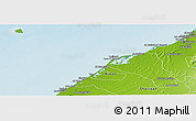 Physical Panoramic Map of Umm Al Qaywayn