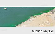 Satellite Panoramic Map of Umm Al Qaywayn