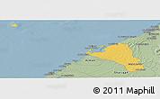 Savanna Style Panoramic Map of Umm Al Qaywayn