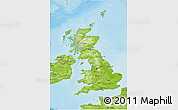 Physical 3D Map of United Kingdom