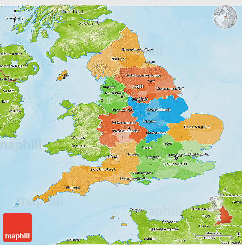 Map Of England Political.Political 3d Map Of England Physical Outside