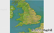 Satellite 3D Map of England