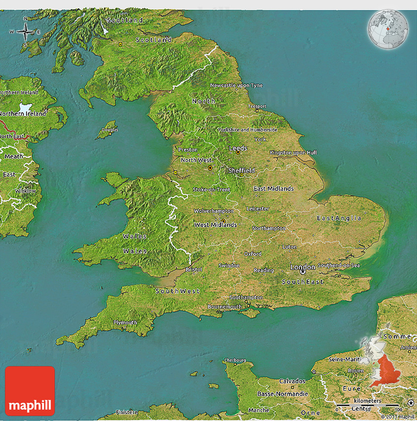 3d Map Of England.Satellite 3d Map Of England