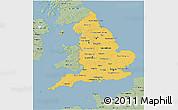 Savanna Style 3D Map of England