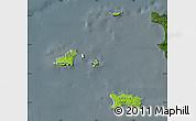 Physical Map of Channel Islands, darken