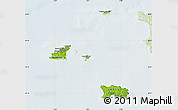Physical Map of Channel Islands, lighten