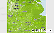 Physical 3D Map of East Midlands