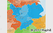 Political Shades 3D Map of East Midlands