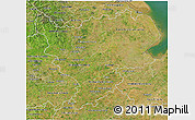 Satellite 3D Map of East Midlands