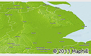 Physical Panoramic Map of Lincolnshire County