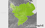 Physical Map of East Midlands, desaturated