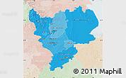 Political Shades Map of East Midlands, lighten