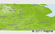 Physical Panoramic Map of East Midlands
