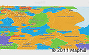Political Panoramic Map of East Midlands